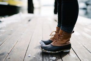 pies en invierno