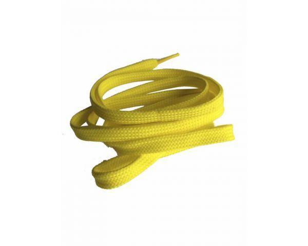 Shoe lace flat yellow
