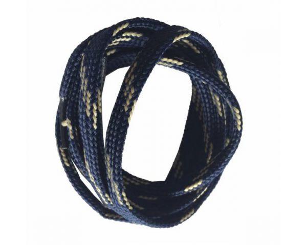 Shoe lace flat blue-beige