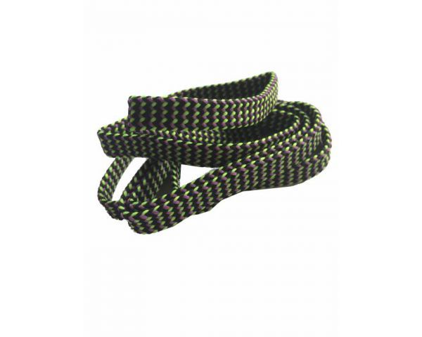 Shoe lace flat black-fuchsia-green
