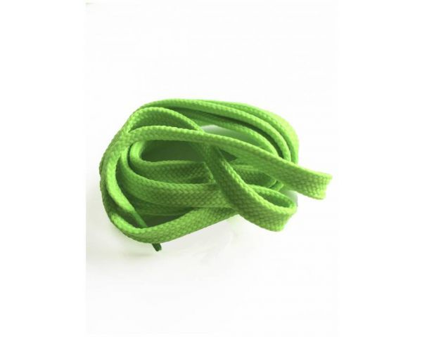 Shoe lace flat electric green