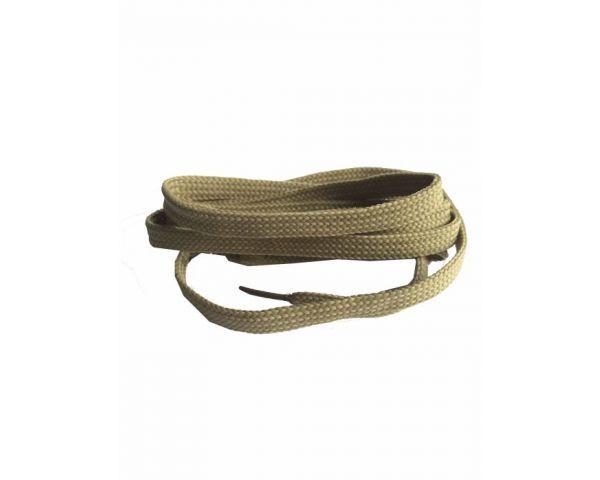 Shoe lace flat beige