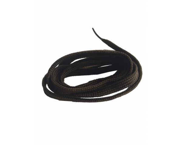 Shoe lace flat dark brown