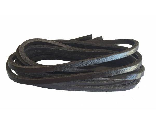 Shoe lace leather brown