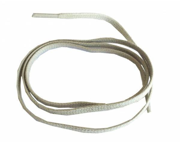 Shoe lace thin flat waxed beige