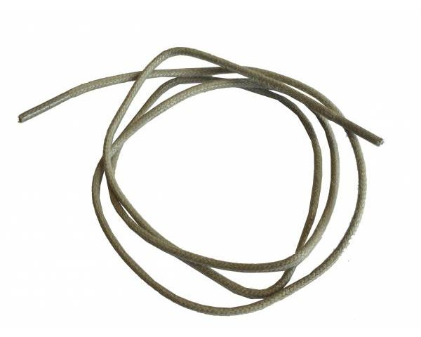Shoe lace waxed round thin beige