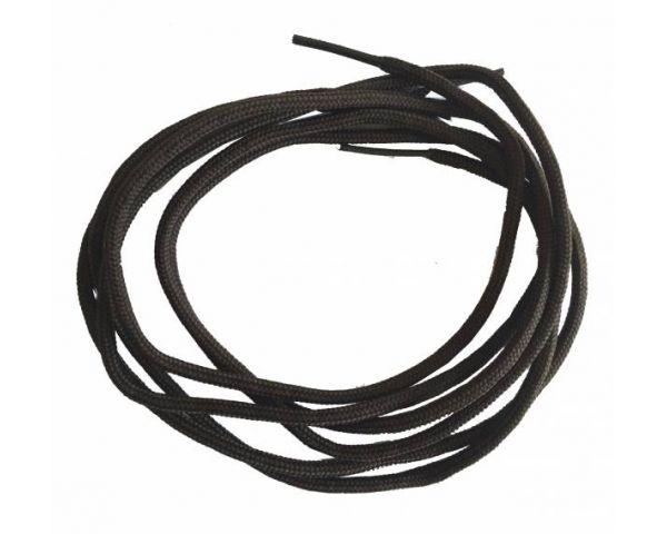 Round thin shoe lace dark brown