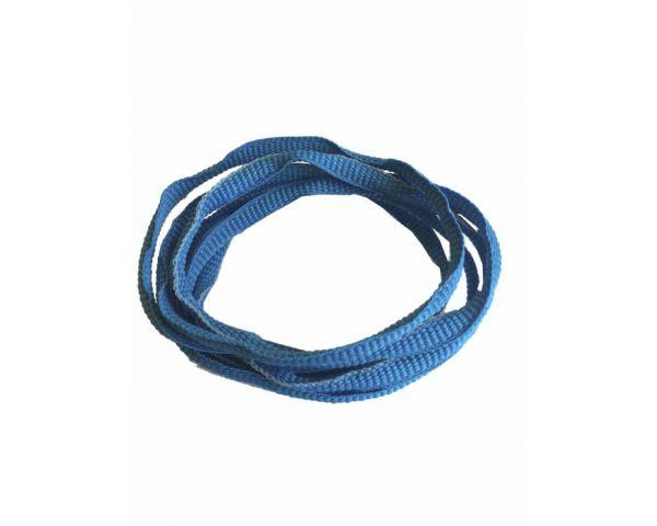 Shoe lace trainer neon blue