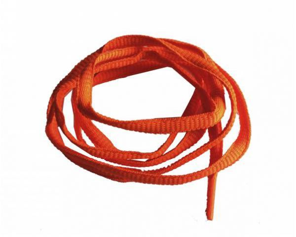 Shoe lace trainer neon orange