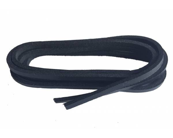 Shoe lace leather blue