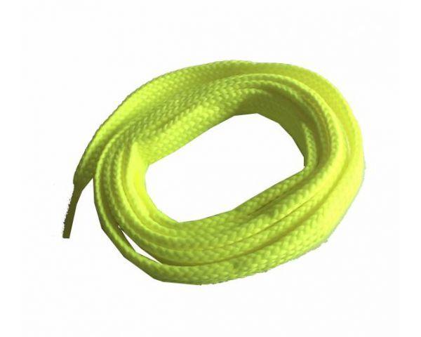 Shoe lace wide flat skate electr. yellow