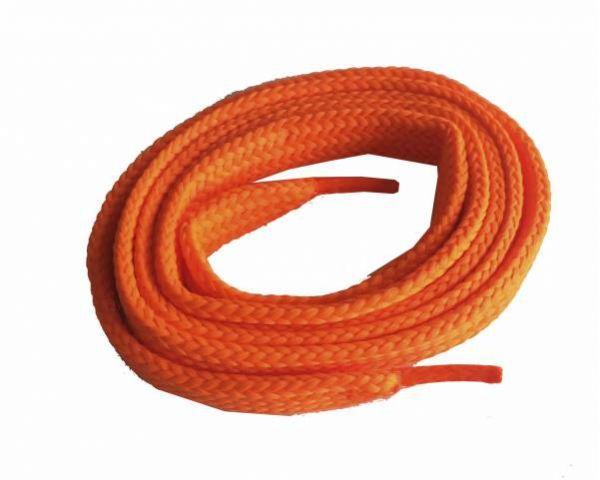 Shoe lace wide flat skate electr. orange