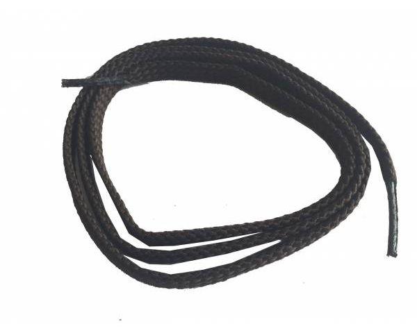 Shoe lace flat thin dark brown
