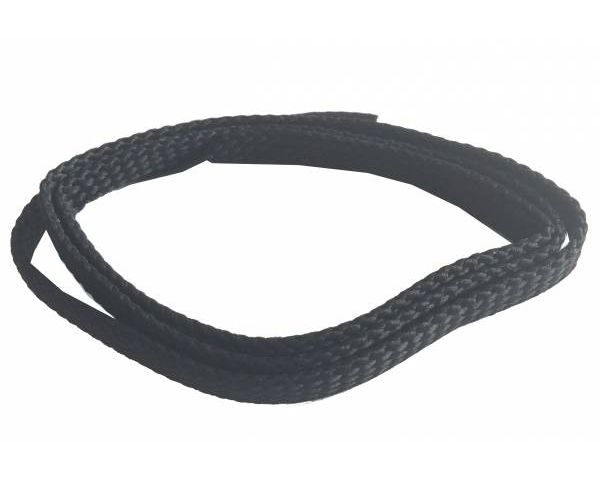 Shoe lace flat thin black