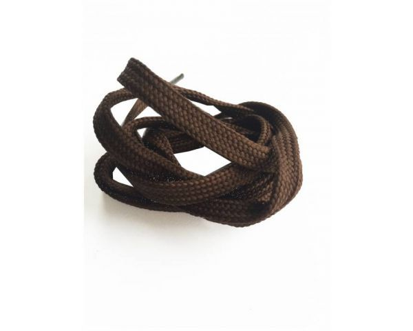 Shoe lace flat brown
