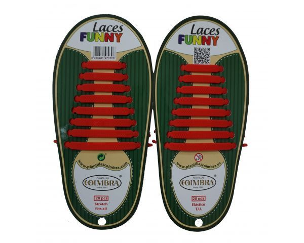 Red Funny Laces