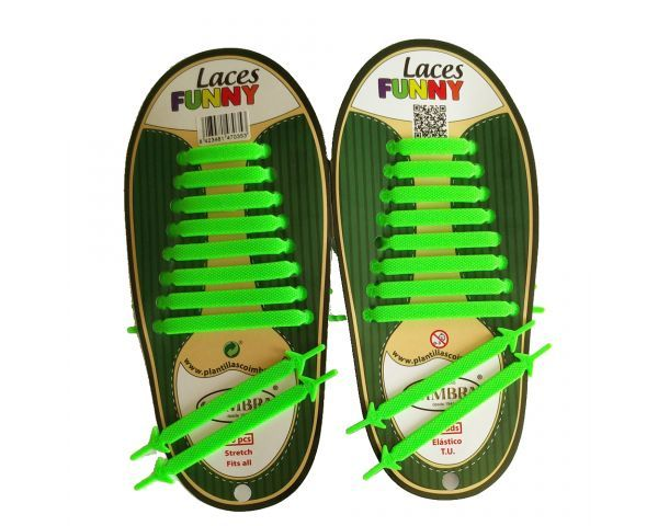 Green Funny Laces