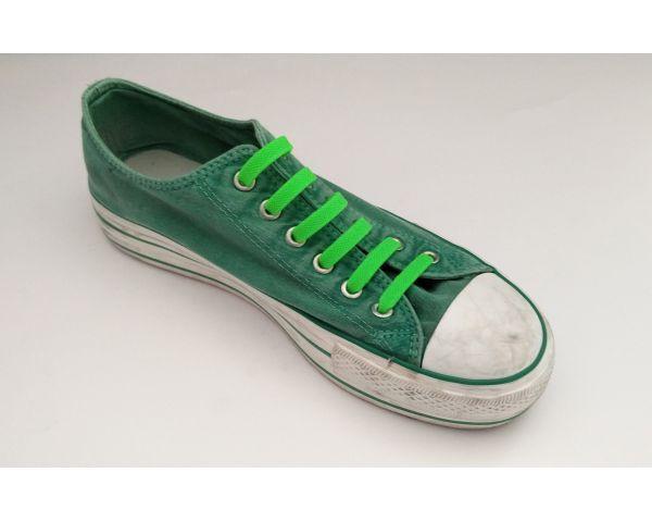 Green Fluor silicone laces